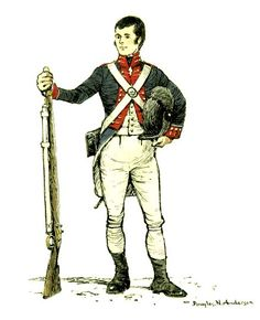 Royal Dumfries Volunteers - Private Robert Burns, 2nd Company circa. 1795-1796. For more information on Scottish Uniforms click on the link below:-