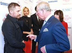 Tom Hardy & Prince Charles from The Big Picture: Today's Hot Pics  The Revenant's Tom Hardy gets some royal talk in with Prince Charles in London.