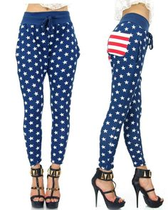 Stars & Stripes American Flag Patriot Draw String 11032 Sweat Jogger Pants  #StyleCreek #Joggers