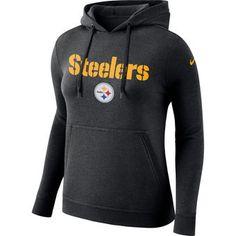Women's Pittsburgh Steelers Nike Black Club Tri-Blend Pullover Hoodie