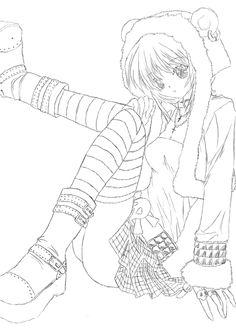 Anime Coloring Pages | Anime Coloring Pages – Anime Girl Coloring ...