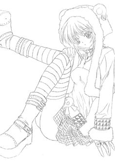 Anime Coloring Pages  Anime Coloring Pages  Anime Girl Coloring