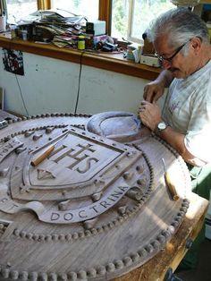 Carved Wooden Sign | Danthonia Designs Blog