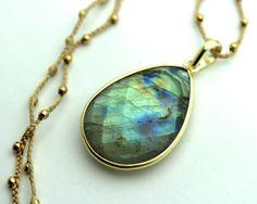 Dharmashop.com - Labradorite Pendant Necklace, $59.00 (http://www.dharmashop.com/labradorite-pendant-necklace/)