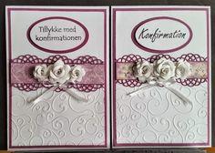 kortblogger: Lidt konfirmations kort. Get Well Cards, Thank You Cards, Wedding Cards, Cardmaking, Birthday Cards, Diy And Crafts, Invitations, Inspiration, Communion
