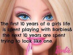Barbie never gave her all nurturing a precious developing life in her womb, or nearly died pushing that baby out, never gave round-the-clock nourishment from her breasts to her newborn! She never continued the continual love, care, and guidance that is the nonstop WONDERFUL assignment called motherhood. Ladies, let's be proud! We do it all and look great doing it!