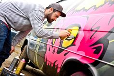 danleo in action! (Painting a Van in Vancouver)