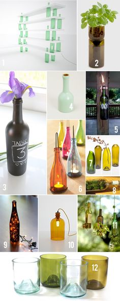 I LOVE these ideas.  Now I just have to figure out how to cut glass.
