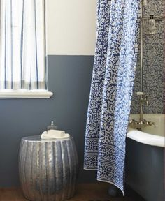 Bathroom Creative Extra Long Decorative Shower Curtains For Clawfoot Tub Enclosure With Stainless Steel Caddy