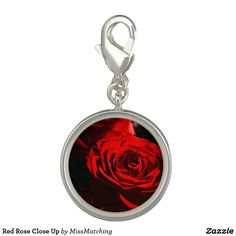Red Rose Close Up Charm