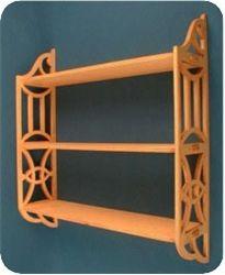 Modern curio shelf patterns.