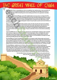 Comprehension – The Great Wall of China