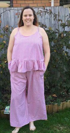 ella cami combo tester roundup part 2 - Designer Stitch Stitch Pajamas, Plus Size Sewing Patterns, Cami Set, Playsuit, Sewing Tutorials, Pajama Set, Beautiful Outfits, Slip Dresses, Long Pants