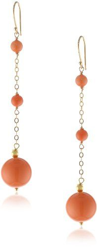 Dyed Coral and Mother-Of-Pearl Round Bead Gold over Silver Chain and Earwire Drop Earrings Amazon Curated Collection,http://www.amazon.com/dp/B00BJY1A32/ref=cm_sw_r_pi_dp_lJJbsb1WP786DKAP