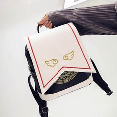 >> Click to Buy << Japanese Comic Card Captor Sakura Wings Schoold Backpack Magical Card girl sakura Cosplay Backpack Sakura Wings bag #Affiliate