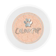 "Colourpop Puppy Love Holiday 2016 - Shadows & Pigments  Soft peach with pink and gold duo chrome in a pearlized finish  All proceeds from the sale of ""Puppy Love"" will be donated to Best Friends Animal Society(R) and their NKLA effort to Save Them All®"