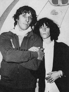 Patti Smith with John Cale   from Velvet Underground