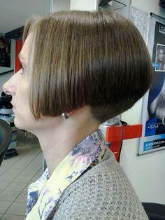 Sexy Bob Haircut, Wedge Haircut, Pixie Haircut For Thick Hair, Short Hair Cuts, Short Hair Styles, Short Stacked Bobs, Shaved Nape, Stacked Bob Hairstyles, Extreme Hair
