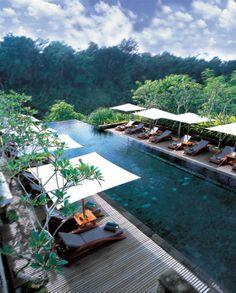 Balinese Ubud Tropical Resort Spa -- awesome-main-pool-with-the-green-view-at-ubud-bali. Ubud Resort, Resort Spa, Honeymoon Destinations, Amazing Destinations, Honeymoon Ideas, Hotels And Resorts, Best Hotels, Amazing Hotels, Villa Luxury