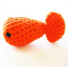 Crochet fish (with link to free pattern).