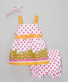This Pink Polka Dot Poplin Dress - Infant, Toddler & Girls by Real Love is perfect! #zulilyfinds
