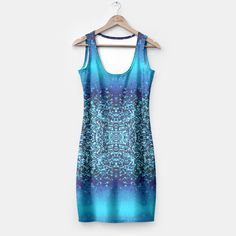 Elegant Blue Frost Sparkle Simple Dress, Live Heroes Casual Attire, Dresses With Leggings, Shopping Mall, Simple Dresses, Frost, Fit Women, Sparkle, Women's Fashion, Seasons