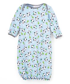 Look what I found on #zulily! Blue Penguin Gown - Infant by Cloud Mine #zulilyfinds