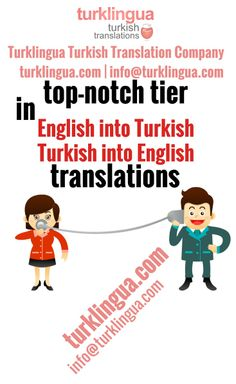 Turklingua Turkish Translation Agency (http://www.turklingua.com) has the power, impellent and desire to sustain its top-drawer line in the Turkish translation market. Turklingua Turkish Translation Agency (http://www.turklingua.com) is trusted by world's foremost businesses to render paramount Turkish translation, editing and proofreading services.