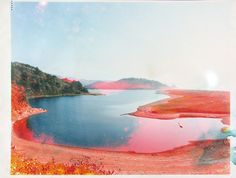 matthew brandt  Stone Lagoon, CA 3, 2008   From the series Lakes and Reservoirs   C-Print soaked in Stone Lagoon water