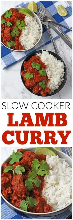 A really easy Lamb Curry recipe made with lamb shoulder and slow cooked to make it deliciously tender. Lamb Recipes, Curry Recipes, Slow Cooker Recipes, Indian Food Recipes, Crockpot Recipes, Cooking Recipes, Meat Recipes, Savoury Recipes, Cooking Ideas
