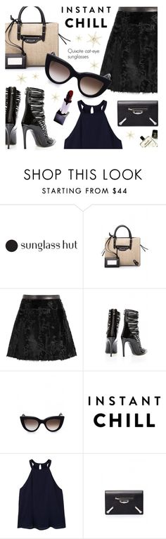 """""""Shades of You: Sunglass Hut Contest Entry"""" by firstboutique ❤ liked on Polyvore featuring Balenciaga, Ermanno Scervino, Philipp Plein, MANGO and shadesofyou"""