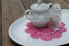 Doodle Craft...: DIY Puff Paint Doilies!
