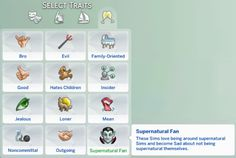 Sims 4 Updates: Zerbu - Mods / Traits : Supernatural Set: Fan trait and aspiration for Child Sims Two new mods: a Supernatural Fan trait, and an aspiration for Child Sims, Custom Content Download!