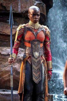 Exclusive: Danai Gurira Talks Playing Okoye In Marvel's Black Panther Black Panther Marvel, Black Panther 2018, Vinyl Pants, Film Black, Movie Black, Black Actors, Marvel Dc, Marvel Heroes, Wakanda Marvel