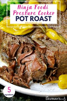 This easy Pot Roast recipe includes just 5 ingredients and is perfect for a weekly meal prep, keto frozen meal, or when feeding a group. In this post, I describe what the Ninja Foodi is and why it's perfect for making a pot roast. I share the best cuts of Pressure Cooker Pot Roast, Using A Pressure Cooker, Pressure Cooker Recipes, Pressure Canning, Slow Cooker, Pot Roast Recipes, Grilling Recipes, Meat Recipes, Cooking Recipes