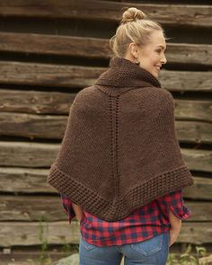 Free Knitting Pattern: Getaway Poncho