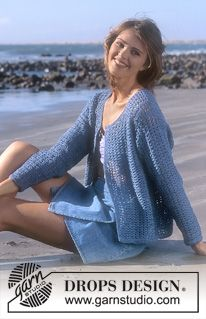 DROPS 56-14 - DROPS Crocheted cardigan in Muskat. - Free pattern by DROPS Design