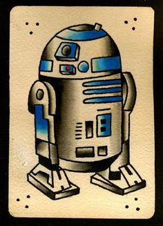 R2d2 old school star wars tattoo