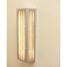 WPT Design V-II 2 Light Rectangle Wall Sconce Shade Color: Capiz Honey Sienna