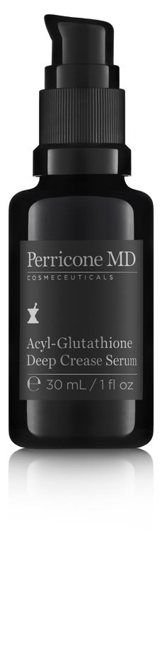 Perricone MD Acyl-Glutathione Deep Crease Serum - A treatment scientifically formulated to smooth expression lines and address deeply etched creases along the forehead, between the eyes, lips and smile lines. 1 fl oz, $155