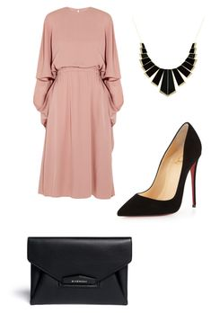 """Being me is hard....."" by lowrilester ❤ liked on Polyvore featuring Valentino, Christian Louboutin, Givenchy and House of Harlow 1960"
