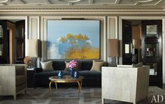 Neoclassical room by designer, Jean-Louis Deniot, in Architectural Digest. Photo by Miguel Flores-Vianna. www.deniot.com