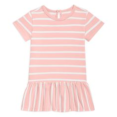 New style alert! This short sleeve stripe dress for baby has the cutest little flounce, perfect for dress up. Baby Dress, Dress Up, Trumpet Dress, Baby Size, Little Girl Dresses, Simple Dresses, Swing Dress, Striped Dress, Color Combinations