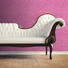 Muriva Sparkle Plain Glitter Wallpaper in Hot Pink- 701356