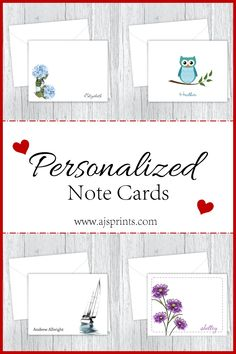 Personalized note cards are great to give for a gift or just to send a special message. Personalized Note Cards, Birthday Gifts, Birthdays, Great Gifts, Notes, Messages, Prints, Gift Ideas, Birthday Presents