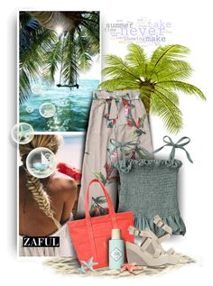"""""""Beachstyle by Zaful 7"""" by christiana40 ❤ liked on Polyvore featuring Dolce Vita, Ralph Lauren and Benefit"""