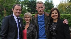 The amazing Lewis cast: Kevin Whately, Clare Holman, Laurence Fox and Rebecca Front Inspector Lewis, Inspector Morse, Famous Detectives, Tv Detectives, Clare Holman, Rebecca Front, Laurence Fox, Bbc Tv Shows