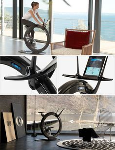 Get into shape with style: exclusive stationary bikes.