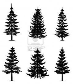 Pine tree tattoo idea