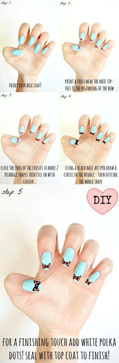 DIY Bow Nails